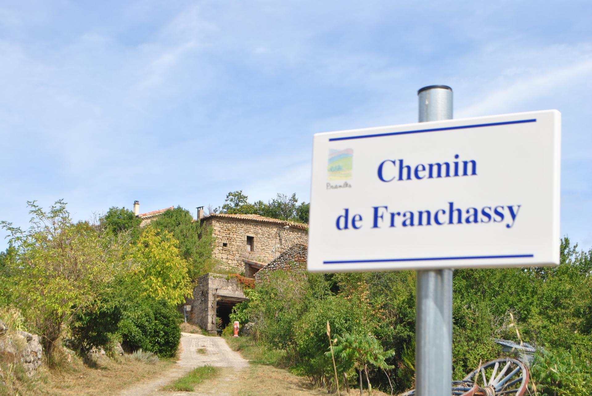 Chemin vers Franchassis